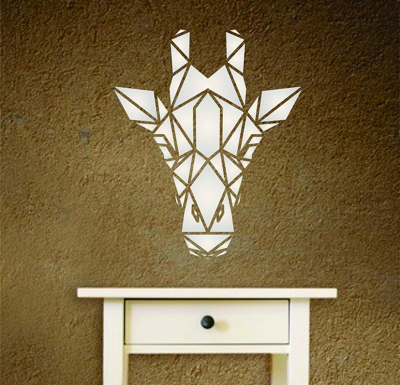 tissu bois journal verre D/écoration g/éom/étrique r/éutilisable murs etc Pochoir motif girafe scrapbooking Pochoir mural S Pour projets papier meubles