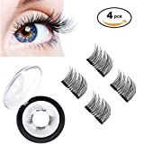 Amazon Price History for:3D Magnetic Eyelashes by WEBSUN, Reusable False Eyelashes for Natural Look (1 Pair 4 Pieces), No Glue Required Fake Mink Lashes