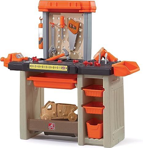 Step2 Werkbank Fur Kinder Mit Zubehor Kinderwerkbank Kunststoff Werktisch Bohrmaschine Fur Handwerker Amazon De Spielzeug