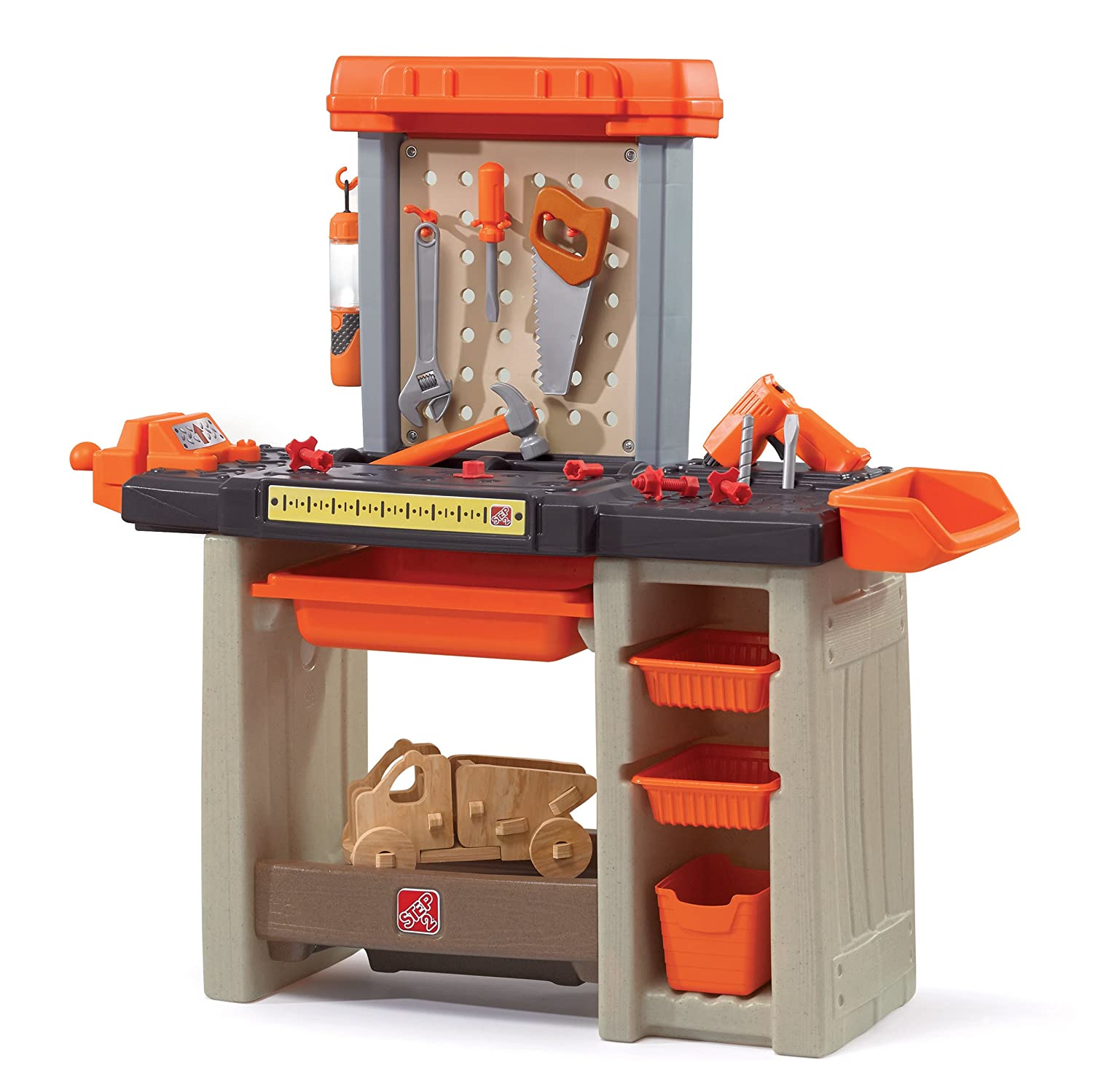 Step2 Handyman Workbench Kids Tool Bench, Orange