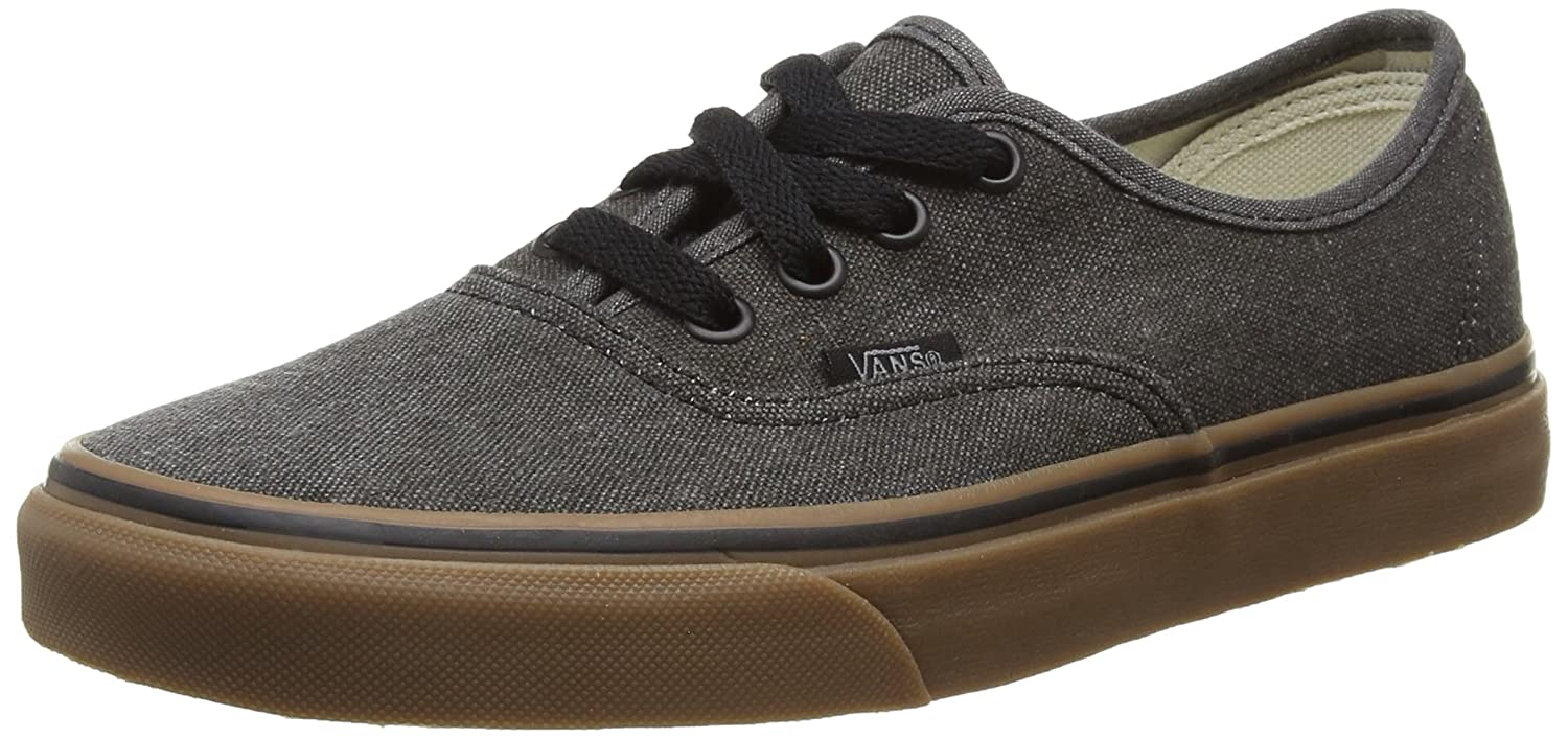 Vans Authentic B0198EBVAG 8.5 M US Women / 7 M US Men|Black / Gum