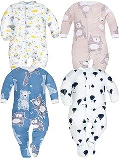 SIBINULO Ni/ño Ni/ña Pijama Beb/é Pelele de ABS Pack de 4 Tama/ños 80-92