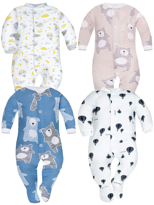 SIBINULO Nino Nina Pijama Beb/é Pelele Pack de 4