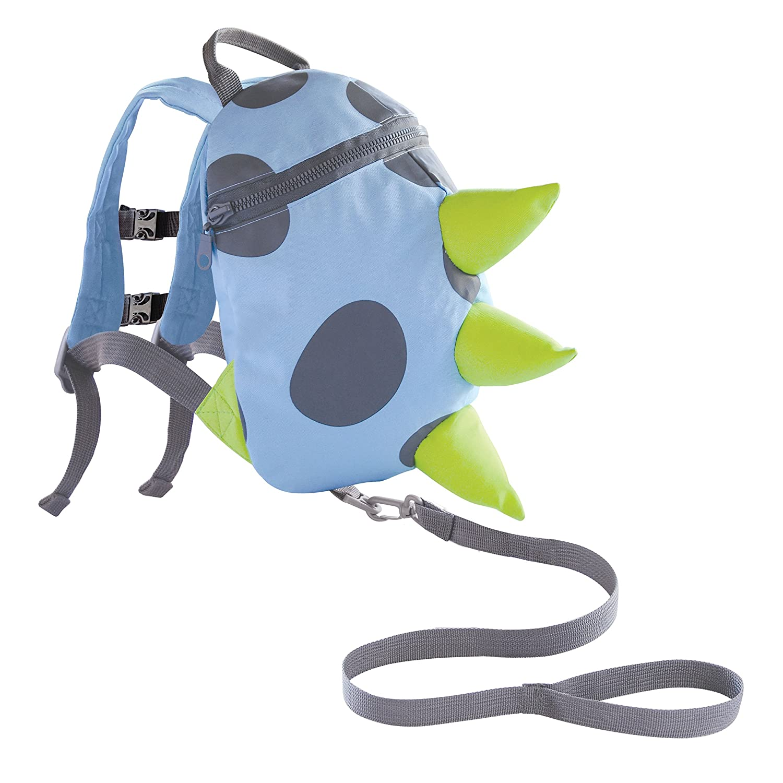 Mochila con arnés para niños Dino- azul, verde, gris: Amazon.es: Bebé