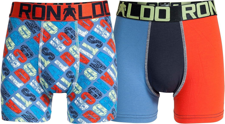 CR7 Cristiano Ronaldo BOYS Boxer pantaloncini per ragazzi 2-Pack (CR7-8400-5100-485-134/140)