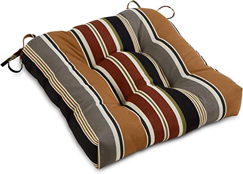 South Pine Porch AM4800-Brick Brick Stripe Outdoor 20-inch Seat Cushion