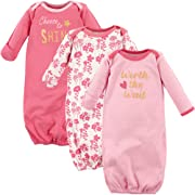 Luvable Friends Baby Cotton Gowns, Worth The Wait 3Pk, 0-6 Months