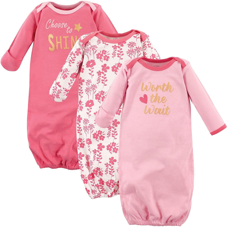 5387d2bbe8e0 Luvable Friends Baby 3 Pack Cotton Gown