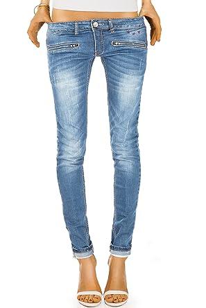 6d5dc3292f8af4 BestyledBerlin Pantalon en Jean Femme, Jean Skinny Taille Basse j03ix