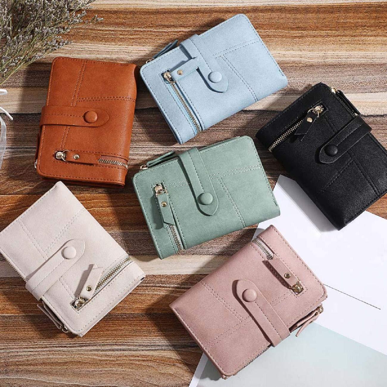 Barlingrock Women Simple Retro Zipper Short Wallet Standard Wallets,Coin Purse Card Holders Handbag,Slim Front Pocket,Casual Pocket