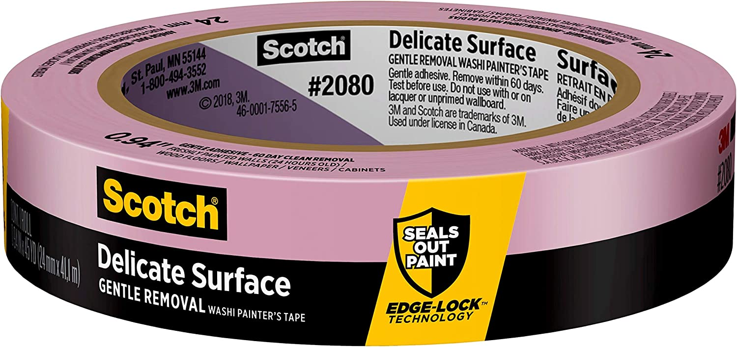 Scotch Delicate Surface Painter's Tape, 0.94 inch x 45 yard,1 Roll