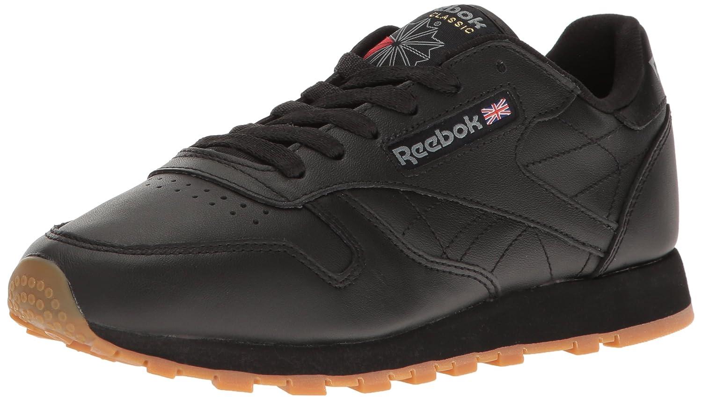 Reebok Women's Classic Leather Sneaker B00RW5AMDG 8.5 B(M) US|Us-black/Gum