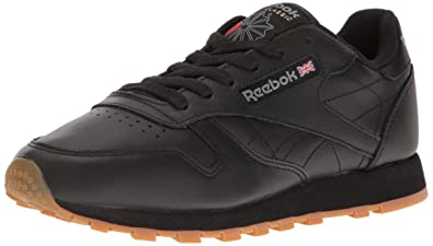 4bb14fc066ec0e Reebok Women s CL LTHR Fashion Sneaker Black Gum