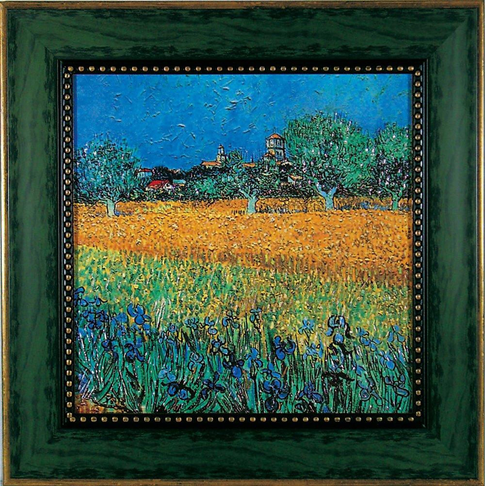 ユーパワー Museum Art ミュージアムシリーズ Gel加工アートフレーム ゴッホ 「アイリスの咲くアルル」 MW-10042 B003N805G0W550xH550mm
