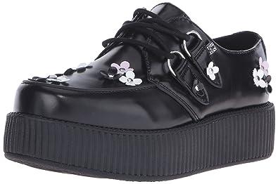 T.U.K. Women's Daisy Bunches Viva Creeper Oxford, Black, ...