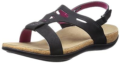 Spenco Tora Womens Strappy Sandals Black - 5