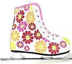 American Athletic Shoe Girl's Little Rocket Double Runner Ice Skate, White,