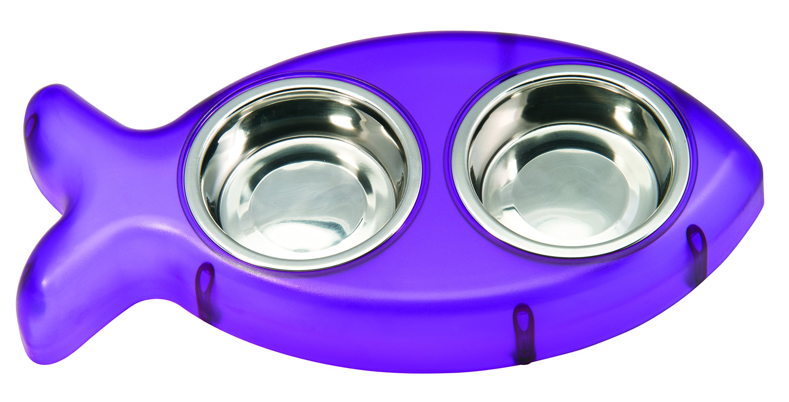 Loving Pets Pesce Diner Bowl for Cats, Purple