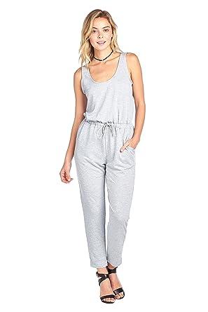 28378d2dc6d Khanomak Casual Sleeveless Scoop Neck Drawstring Waist Long Pants Jumpsuit