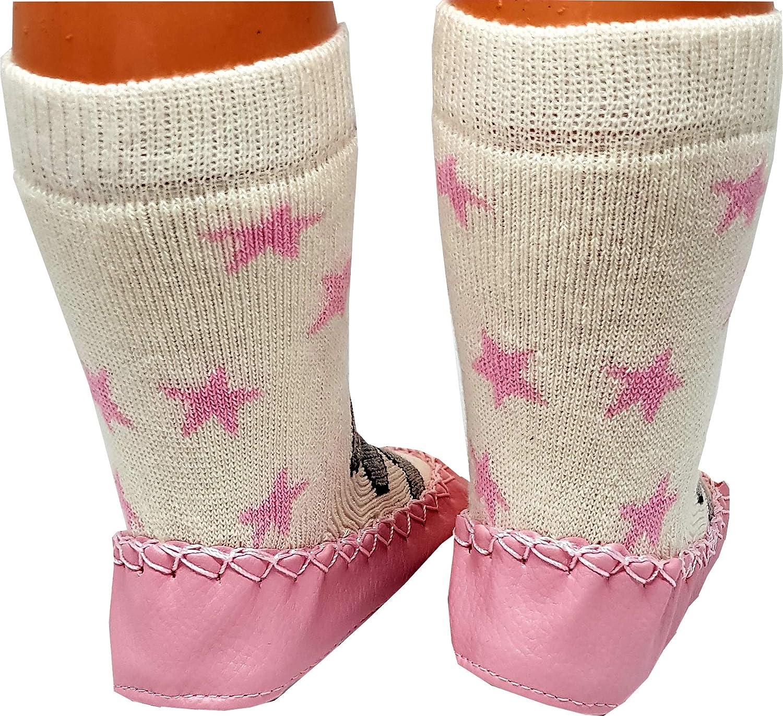 PAHMUK Kids Girls//Boys Warm Cute Anti-Slip Comfy Indoor Slipper Socks Star
