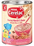 Nestlé Cerelac Baby Food, Brown Rice and Milk, 350g