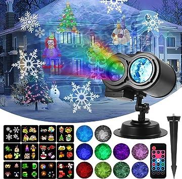 Amazon.com: KINGWILL - Proyector de luz LED, 12 diapositivas ...