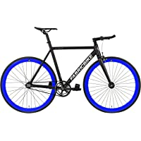 """FabricBike Light - Vélo Fixie, Fixed Gear, Single Speed, Cadre Fourche Aluminium, Roues 28"""", 3 Tailles, 4 Couleurs, 9,45 kg (Taille M)"""