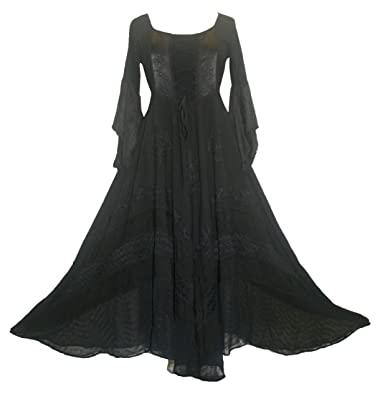 Agan Traders 405 Dr Medieval Gothic Corset Bohemian Embroidered