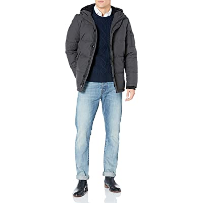 Calvin Klein Men's Sherpa Hooded Parka Coat at Amazon Men's Clothing store