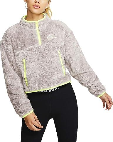 películas Folleto continuar  Amazon.com: Nike CJ6282-218 - Camiseta de forro polar para mujer con  cremallera de 1/4 y cremallera, talla XL: Clothing