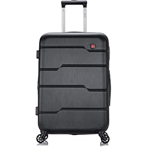 DUKAP Luggage Rodez Lightweight Hardside Spinner 24 inches Black