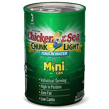 Amazon Chicken Of The Sea 3 Piece Tuna In Water Chunk Light