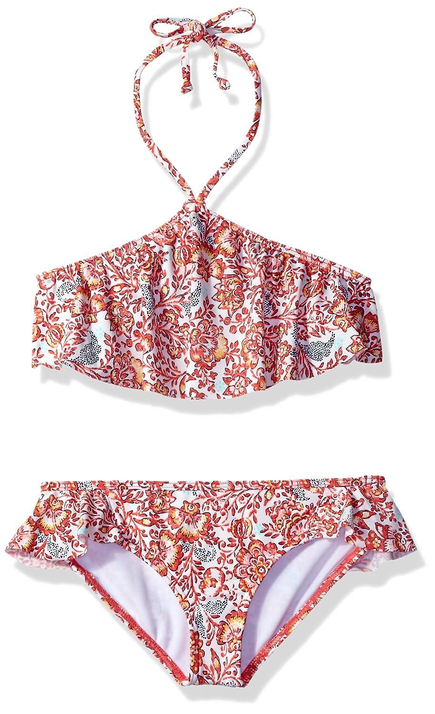 Billabong Girls' Sea Side Flutter Two Piece Swimsuit Set Y217KSEA