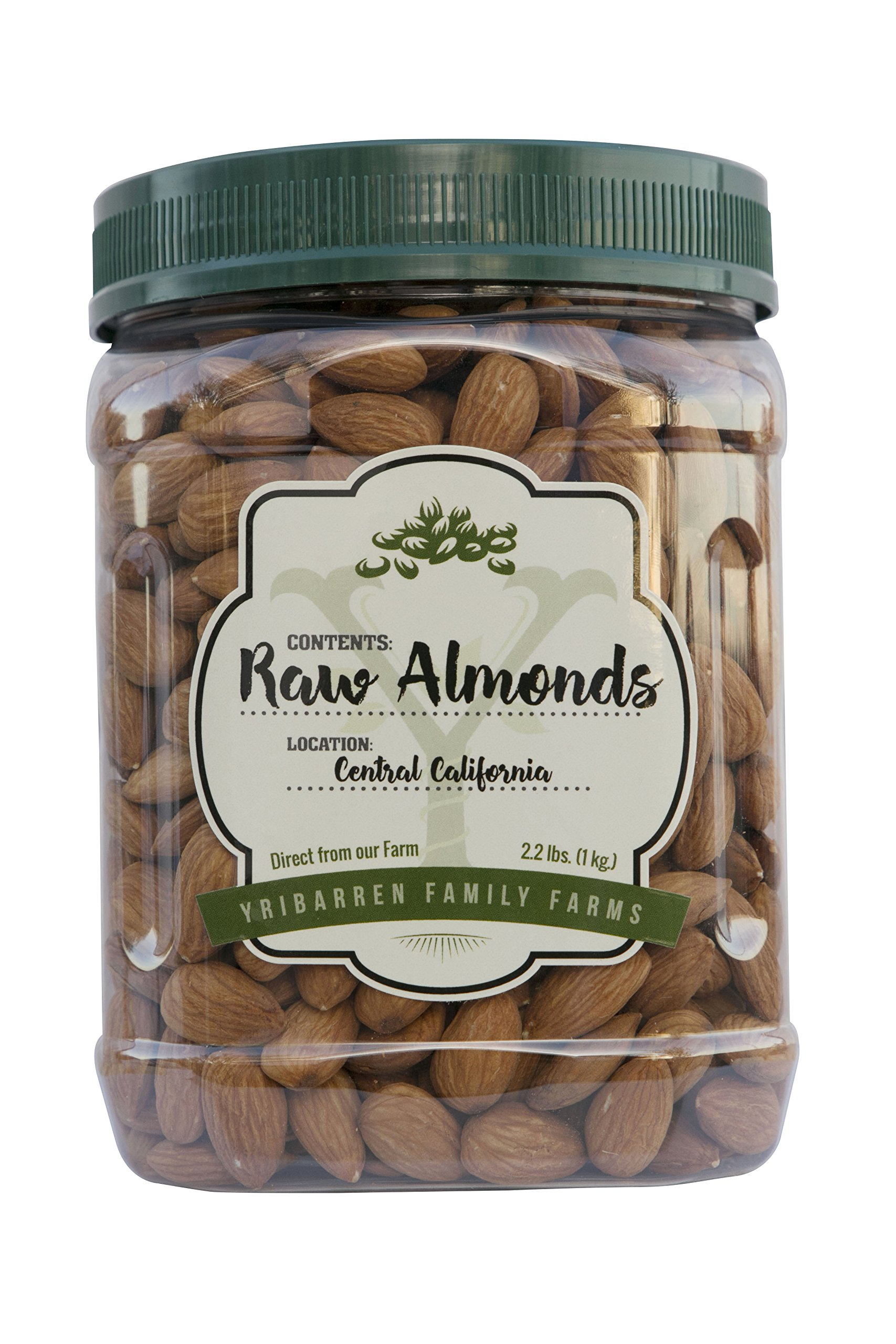 Steam Pasteurized Almonds Direct From Our Farm- 2.2 LB Resealable Jar