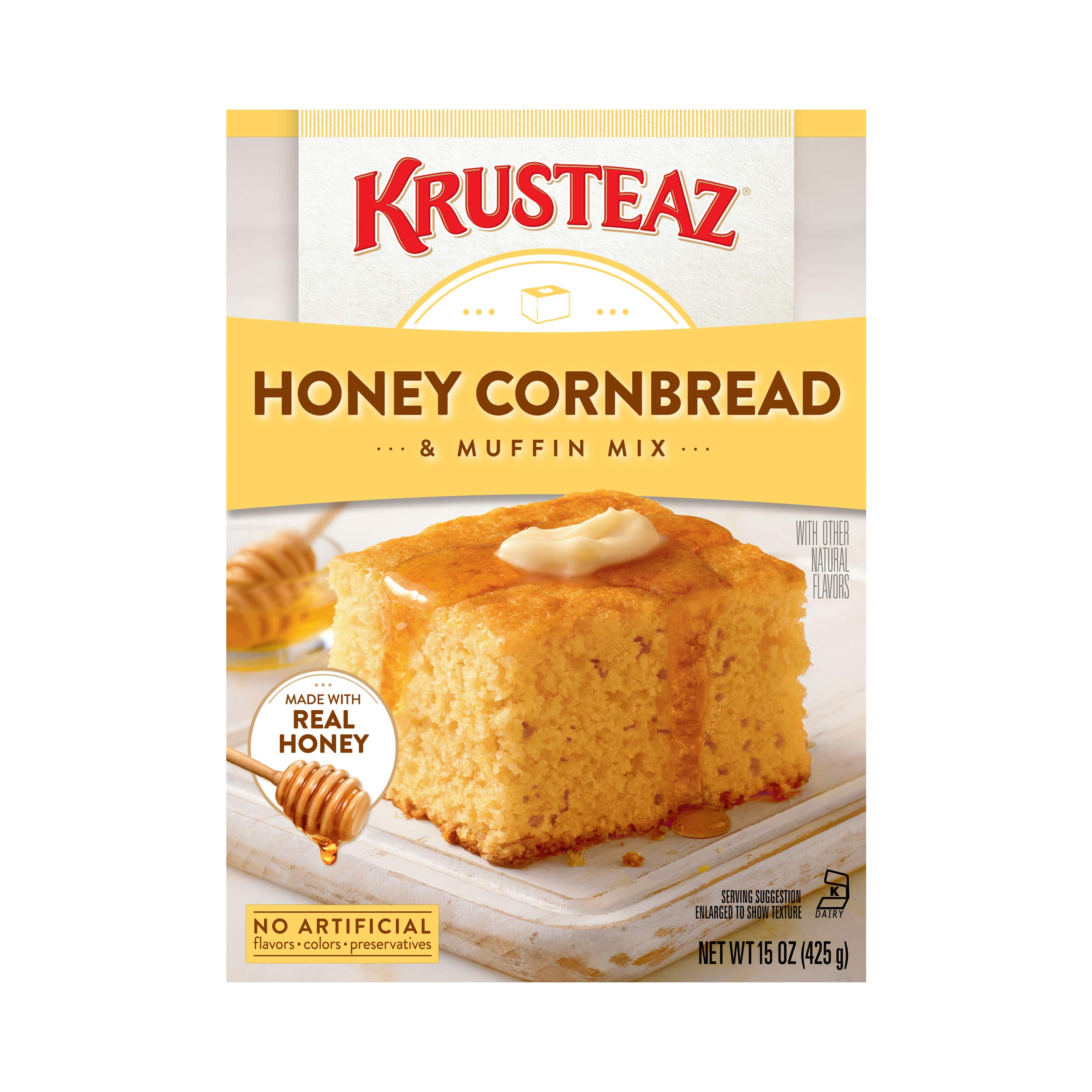 Krusteaz Muffin Mix, Honey Cornbread, 15 oz