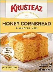 Krusteaz Muffin Mix, Honey Cornbread, 15 oz
