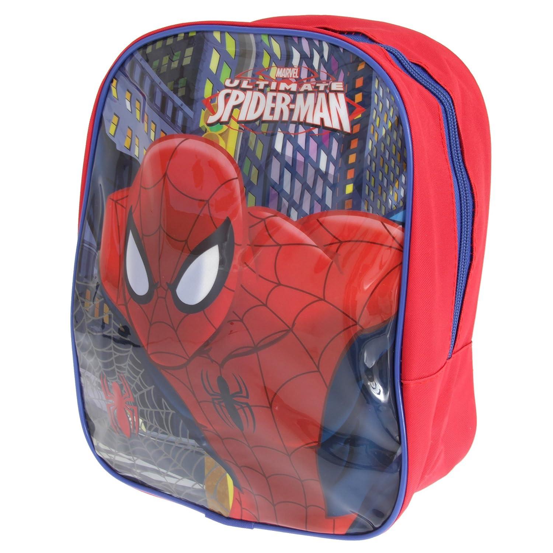 Spiderman - Mochila pequeña infantil de Ultimate (Talla Única/Rojo/Azul marino): Amazon.es: Ropa y accesorios