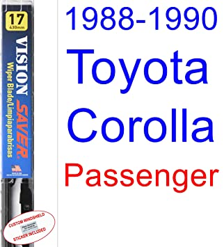 Amazon.com: 1988-1990 Toyota Corolla SR5 All Trac Wiper Blade (Rear) (Saver Automotive Products-Vision Saver) (1989): Automotive
