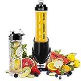 Duronic BL3 /SS Blend & Go en acier inoxydable Mixeur protéines smoothies 300W Mélangeur avec 2 X bouteilles 600ml sans BPA - Désormais avec un infuseur à fruits - garantie gratuite de 2 ans