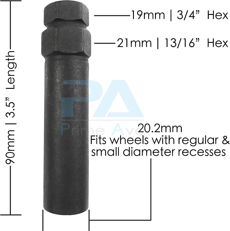 2 Black 6 Point Standard Tuner Spline Drive Key Tools