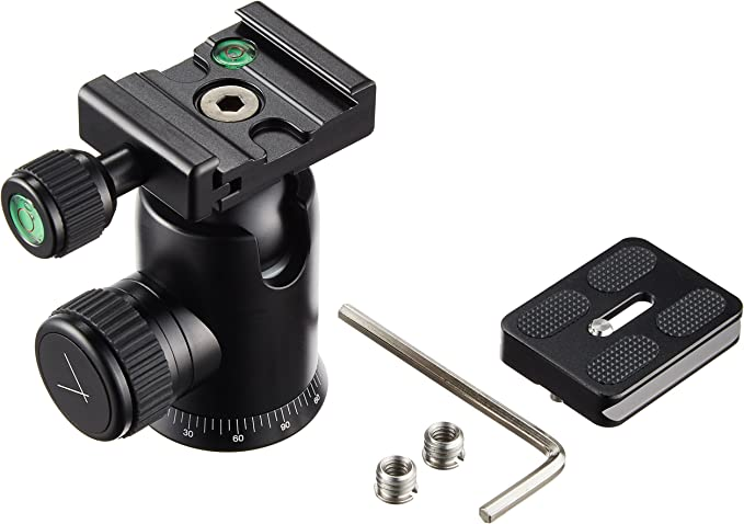 Aluminium Compatible with Most DSLR with a Quick Release Plate Mirrorless Syrp Ballhead 3//8 UNC Thread and 2 Bubble Levels