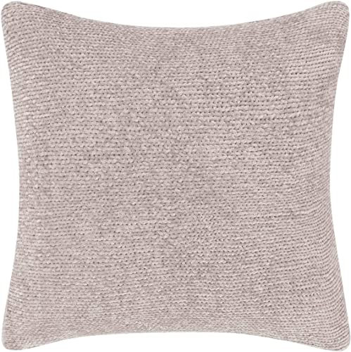 Laura Ashley Claire Throw Pillow, 16-inch Mauve