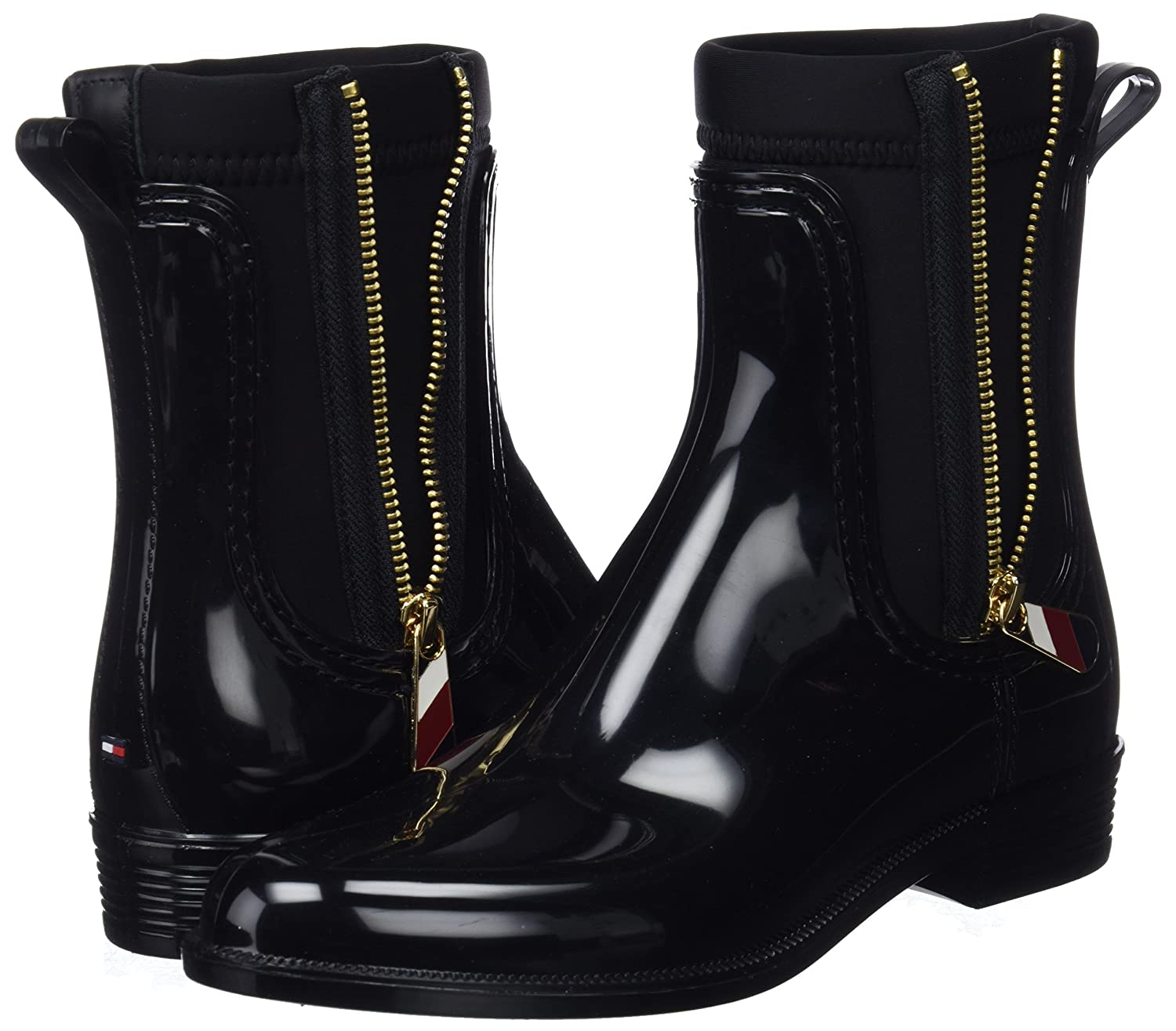 Tommy Hilfiger Material Mix Rain Womens Chelsea Boots