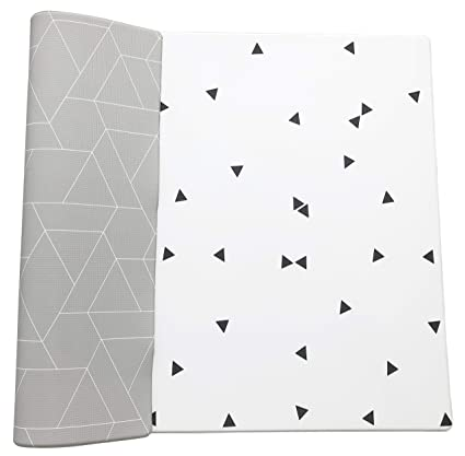 Little Bot Baby Play Mat Foam Large moroccan grey and light triangle