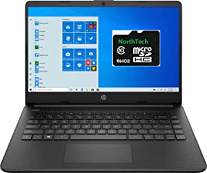 2021 Newest HP Stream 14-inch HD Laptop, Intel N4020 up to 2.8 G, 4G RAM, 128G Space(64G eMMC+64G NorthTech SD), WiFi, Webcam, Bluetooth, HDMI Windows 10 S, Office 365 Personal for 1 Year, Jet Jack