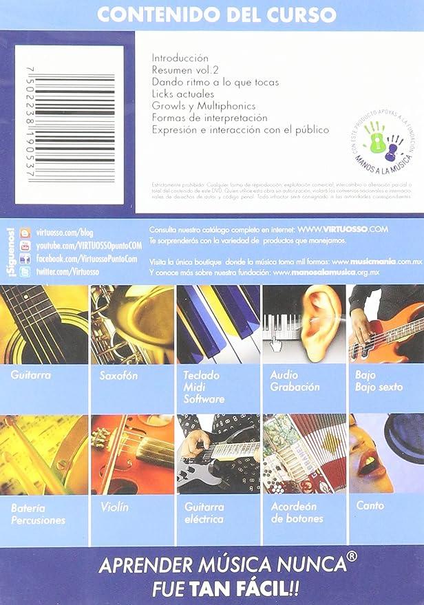 Amazon.com: Virtuosso Saxophone Method Vol.3 (Curso De Saxofón Vol.3) SPANISH ONLY: Musical Instruments