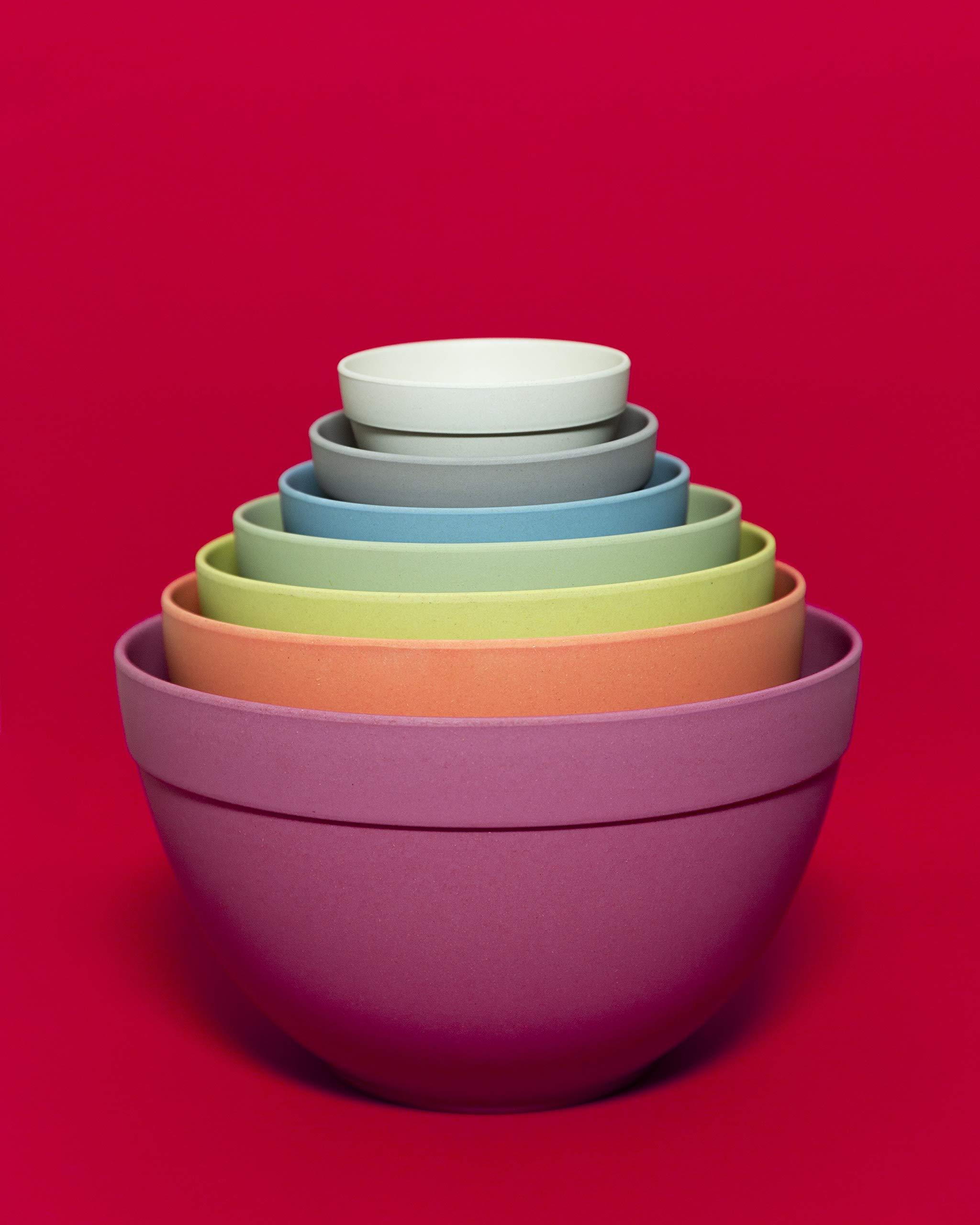 Bamboozle BZ0303NB Seven Piece Pastel Nesting Bowls by Bamboozle (Image #4)