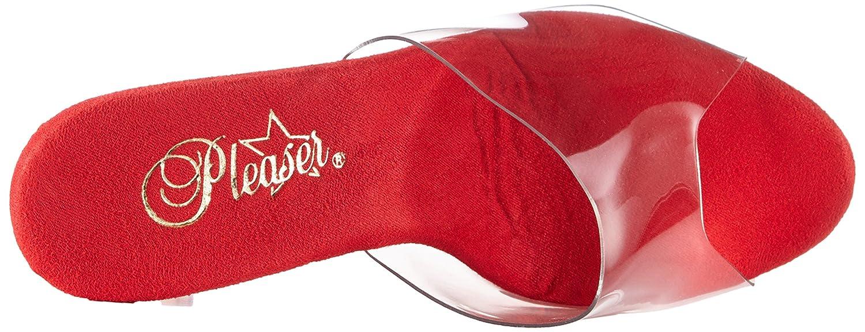 Pleaser Women's Adore-701 Platform Sandal B00MH2Q878 12 Chrome B(M) US|Clear / Red Chrome 12 e5a263