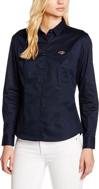 Spagnolo, Camisa Para Mujer, Azul Marino, XS: Amazon.es: Ropa y accesorios