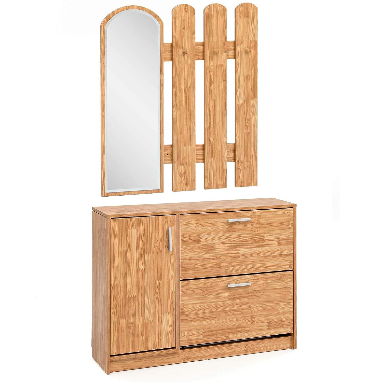 KS-Furniture WL5.820 - Perchero de Pared con Espejo (90 x ...